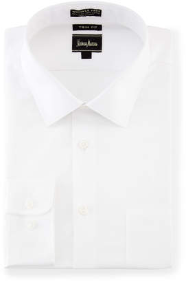 Neiman Marcus Trim-Fit Non-Iron Dress Shirt, White
