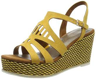 Marco Tozzi Women's 2-2-28730-32 Platform Sandals, Black Comb 098