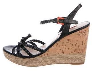 b799af942e54 Prada Espadrille Wedge Women s Sandals - ShopStyle