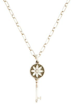 Tiffany & Co. Diamond Accent Daisy Key Pendant Necklace $325 thestylecure.com