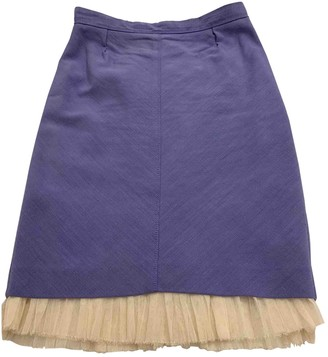 Louis Vuitton Purple Silk Skirt for Women