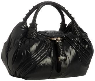 Fendi black down nylon Moncler 'Spy' bag