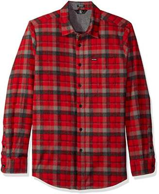 Volcom Men's Caden Classic Flannel Long Sleeve Shirt