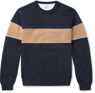 Brunello Cucinelli Striped Cotton-Blend Jersey Sweatshirt