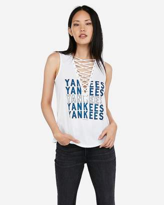 Express N.Y. Yankees Lace-Up Tank
