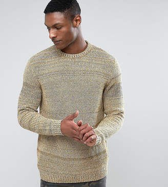 Asos DESIGN TALL Relaxed Fit Sweater In Black & Yellow Twist