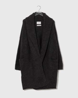 LAUREN MANOOGIAN Black Melange Capote Coat