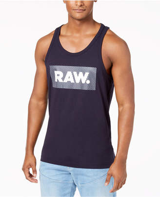G Star Men's Graphic-Print Cotton Tank Top