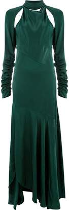 Monse slashed draped high neck dress