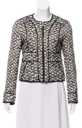 Diane von Furstenberg Textured Long Sleeve Jacket