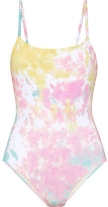 Solid & Striped The Nina Tie-dyed Swimsuit - Pastel pink