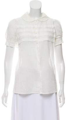 Marc by Marc Jacobs Sheer Short Sleeve Top