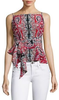 Nanette Lepore Anchors Away Silk Top $298 thestylecure.com