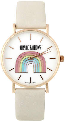 MIXIT Mixit Chase Rainbows Womens Gray Strap Watch-Pts5077