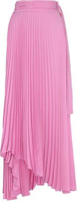 A.W.A.K.E. Mode Pleated Asymmetric Midi Skirt Size: 36