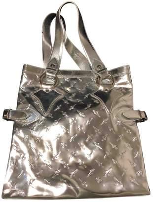 Cesare Paciotti Silver Leather Handbag