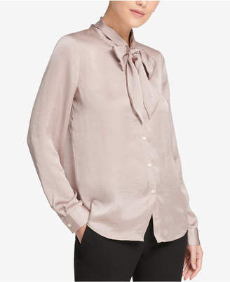 DKNY Bow-Neck Blouse