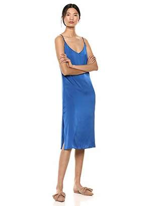 A.N.A The Drop Women's Silky V-Neck Midi Slip Dress