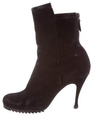 Balenciaga Suede Ankle Boots Black Suede Ankle Boots