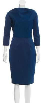Lela Rose Structured Sheath Dress