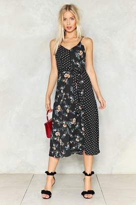 Nasty Gal Dot Thing Floral Dress