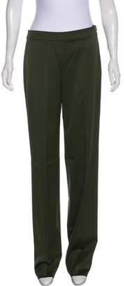 St. John Wool Mid-Rise Straight-Leg Pants w/ Tags