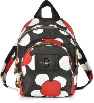 Marc Jacobs Red/Black Daisy Print Nylon Mini Double Backpack