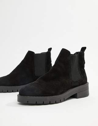 Office Amiee black suede ankle boot