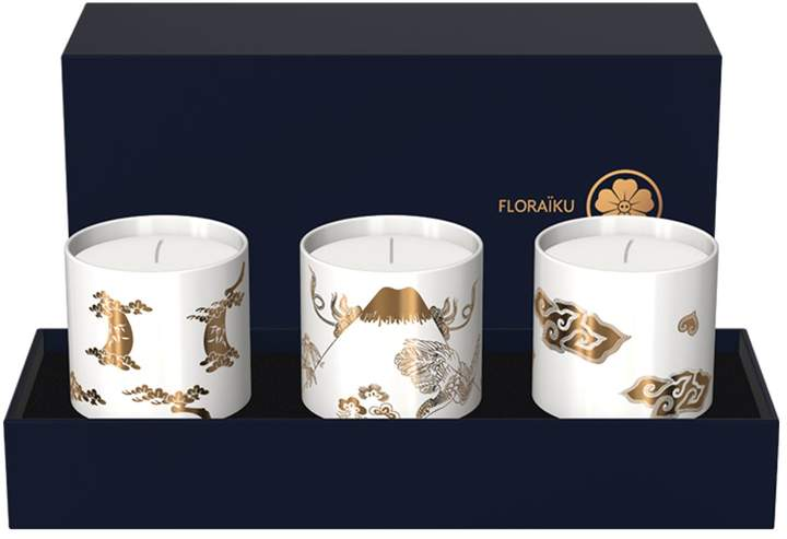 Floraiku Cherry Blossom Tea Cup Candle Set