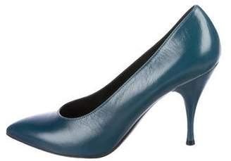 Nina Ricci Leather Pointed-Toe Pumps