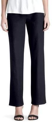 Eileen Fisher Plus Size Washable-Crepe Straight-Leg Pants