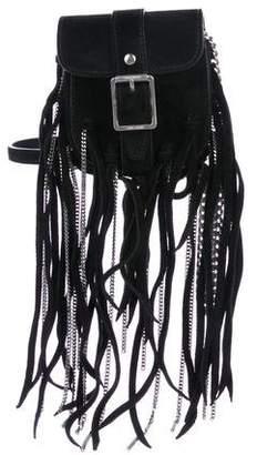 Saint Laurent Suede Fringe Crossbody Bag