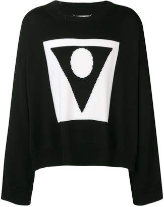 Maison Margiela contrast long-sleeve sweater