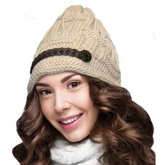 Fashionable Lifeshop Women's Winter Beanie Headwear Hat - Beige