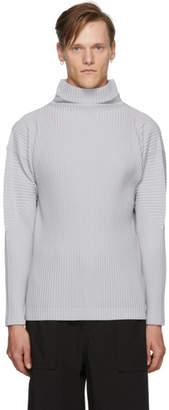 Issey Miyake Homme Plisse Grey Basics Turtleneck
