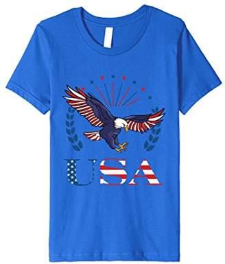 USA Eagle American Stars and Stripes Premium Printed T-Shirt