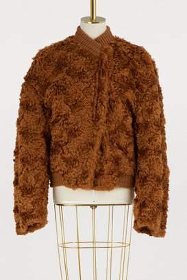 Jil Sander Fame mohair bomber jacket
