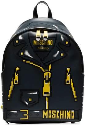 Moschino Pixelated jacket print backpack