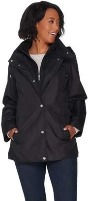 Susan Graver Zip Front Anorak Jacket with Lace Accents