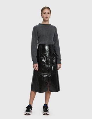 Mijeong Park Faux Patent Leather Skirt in Black