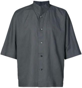 Issey Miyake Homme Plissé high standing collar shirt