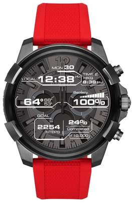 Diesel R) Full Guard Touchscreen Silicone Strap Smart Watch, 48mm