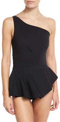 La Petite Robe by Chiara Boni Astrea One-Shoulder Swimdress, Black $410 thestylecure.com