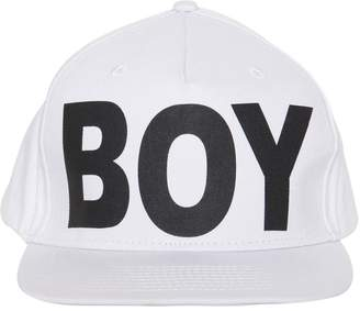 Boy London Logo Printed Canvas Hat