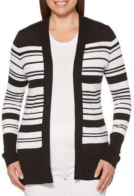 Rafaella Striped Open Front Cardigan