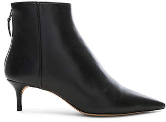 Alexandre Birman Leather Kittie Ankle Boots in Black | FWRD