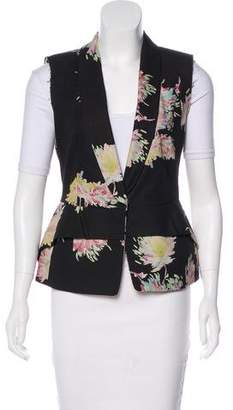 Dries Van Noten Shawl-Lapel Floral Vest