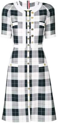 Thom Browne plaid straight dress
