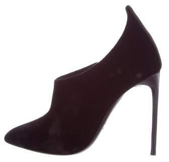 Tom Ford Velvet Pointed-Toe Ankle Boots