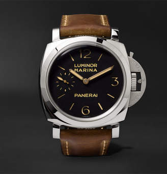 Panerai Officine Luminor Marina 1950 3 Days Acciaio 47mm Stainless Steel and Leather Watch
